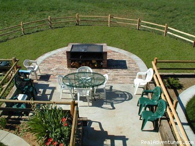 Breakfast on the Patio at the K3 - Experience the West at K3 Guest Ranch B&B!
