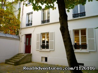 View building on courtyard - Top location large apt Champs-Elysees Eiffel Tower