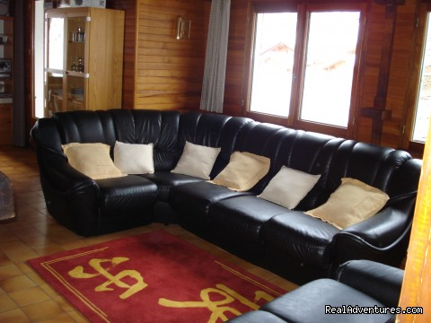 Chalet lounge  area - Ski and Summer Breaks in La Clusaz