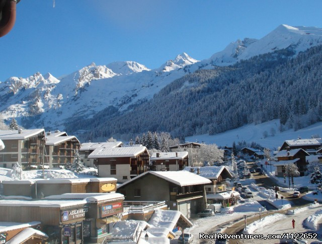 View from the apartment balcony - Ski and Summer Breaks in La Clusaz