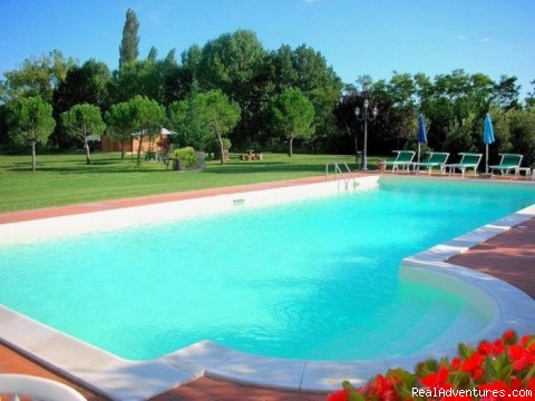 Ecological pool - Tuscany 13th century villa selfcatering apartments