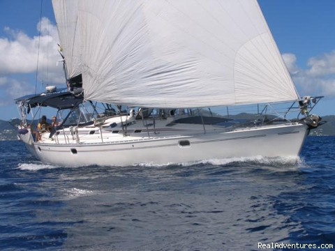 'Sophisticated Lady' Under Sail - Caribbean Holidays Aboard Your Own Private Yacht!