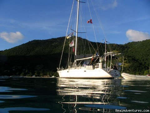 'Sophisticated Lady' At Anchor - Caribbean Holidays Aboard Your Own Private Yacht!