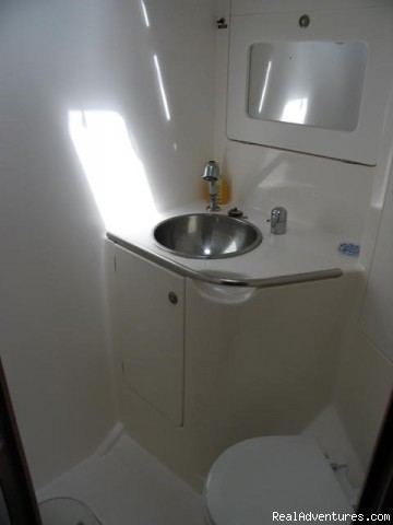 Private Bathrooms - Caribbean Holidays Aboard Your Own Private Yacht!