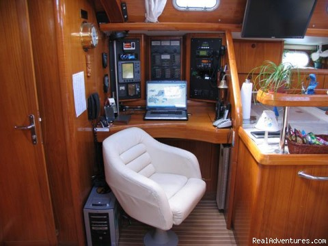 Navigation and Communication Station - Caribbean Holidays Aboard Your Own Private Yacht!