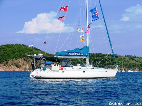 'Sophisticated Lady' at anchor in the BVI's - Caribbean Holidays Aboard Your Own Private Yacht!