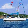 'Sophisticated Lady' at anchor in the BVI's