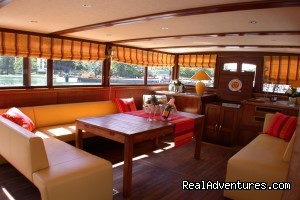 Wheelhouse on the barge (#3 of 5) - Discover the Burgundy Canal on the 'MS Niagara'