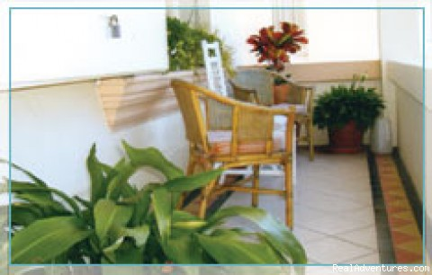 The balcony - guaranteed Harbour Breezes - Budget Accommodation minutes from Sydney CBD, AUST