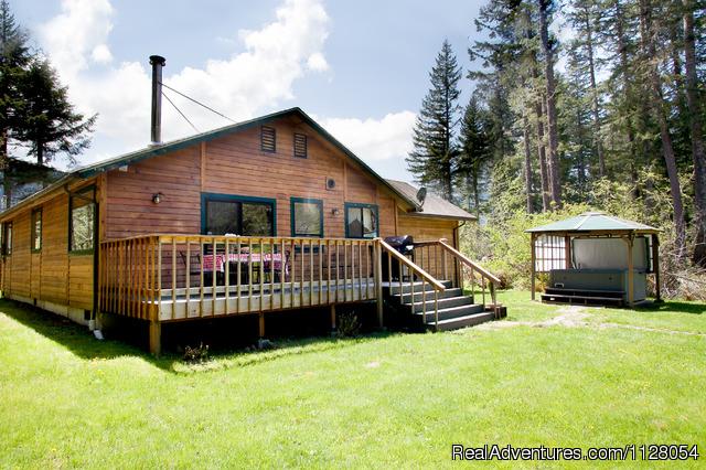 Luxury cabins w hot tubs fire pit mt rainier ashford for Cabins near mt ranier