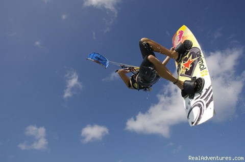 Susi Mai Jumping - South Florida Kiteboarding School