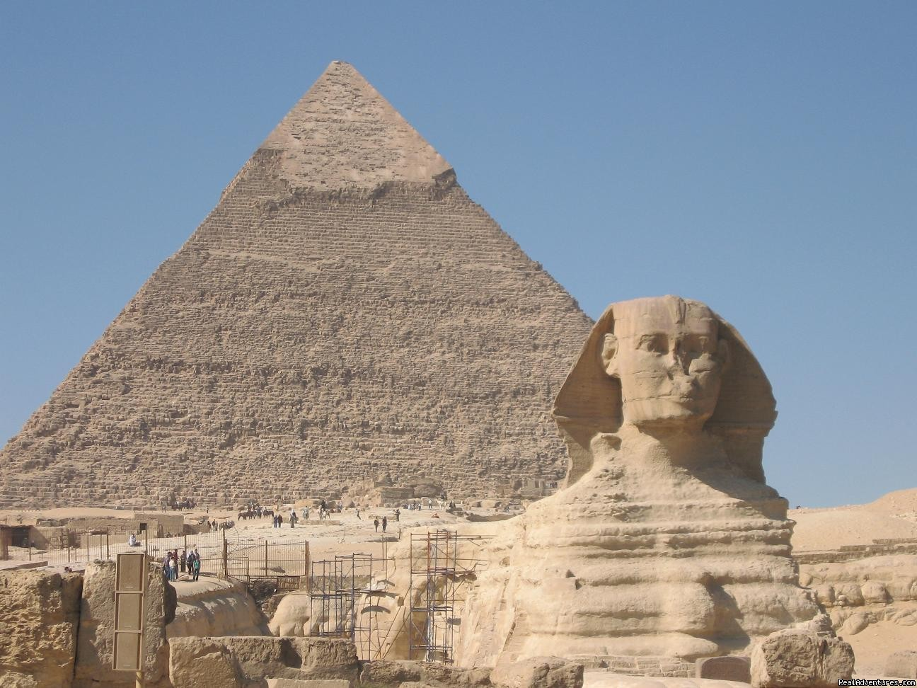 Khafre's Pyramid and the Sphinx at Giza