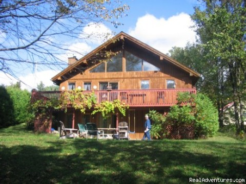 Charming slopeside chalet with private lake access: Main View