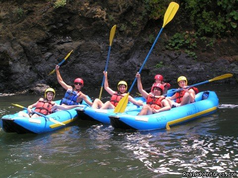 Teens in Inflatable Kayaks on the Rogue | Image #8/10 | Oregon and Idaho River Rafting - ECHO River Trips