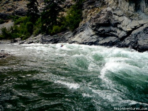 Oregon and Idaho River Rafting - ECHO River Trips: Middle Fork Cliffside Rapid