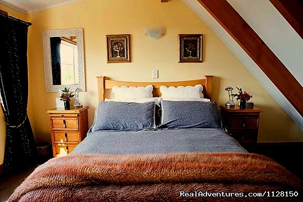 From upstairs you can see forever! - Romantic NZ country cottage: 5-Star B&B  Waitomo