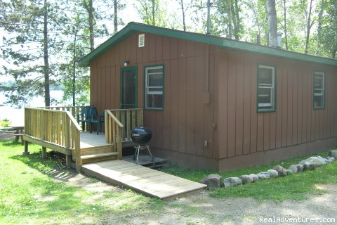 Boundary Waters Canoe Trips and Ely, MN Vacations: Lakeside cabin view