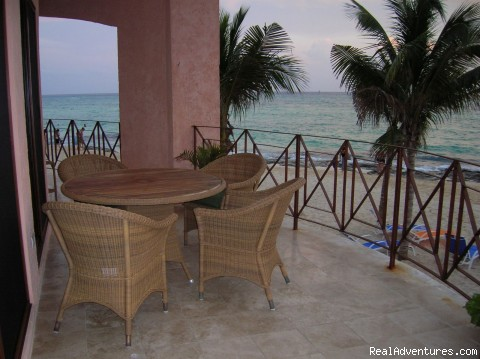 Patio/Balcony is extra deep and wide - True Beachfront Luxury Condo