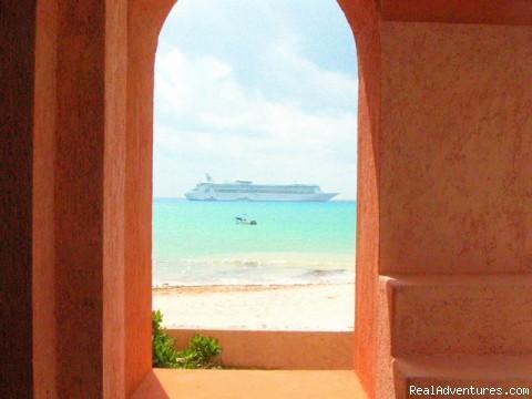 The hallway even has an ocean view! (#8 of 16) - True Beachfront Luxury Condo