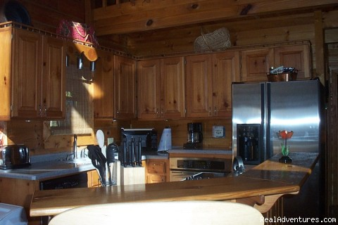 Kitchen - Little Bear Log Cabin