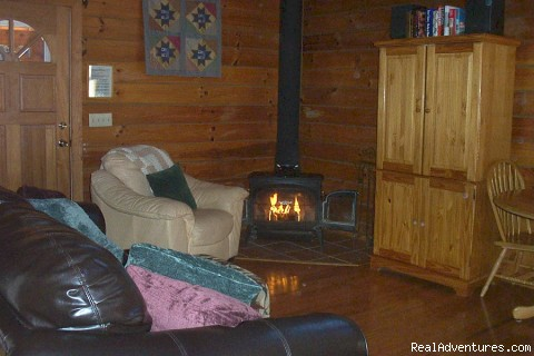 Living Room - Little Bear Log Cabin