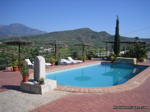 Rural Houses & Apartments near Marbella & Ronda: Beautiful view from our swimming-pool