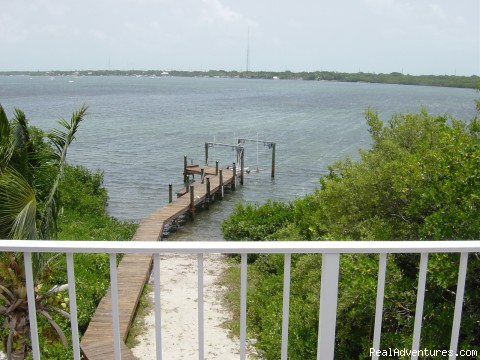 View from rear upstairs balcony - Key Largo Bayfront Home Getaway
