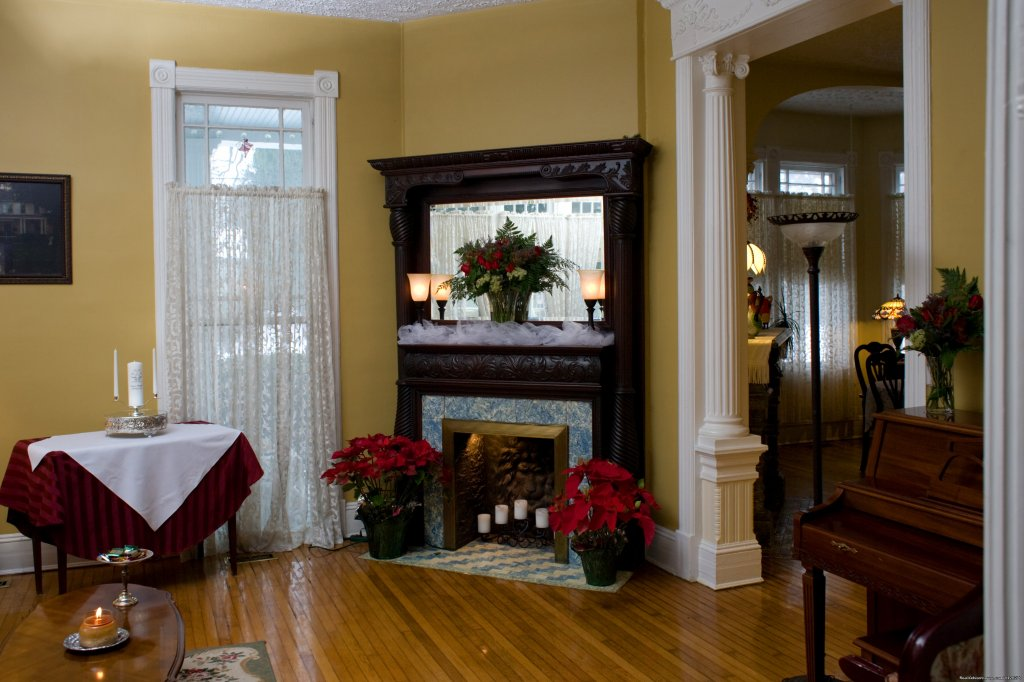 Historic Mantel in Music Parlor | Image #11/16 | A Jewel of Comfort & Hospitality - Magnolia House