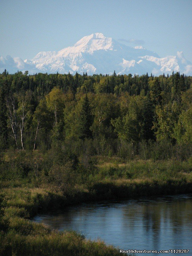 View of Denali (Mt. McKinley) from the Deshka River | Image #12/12 | Deshka Wilderness Lodge