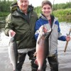 Grandfather and grandson catch a double on silvers
