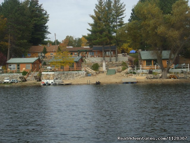 Resort from the lake  - Cabin's on the Lake in Michigan