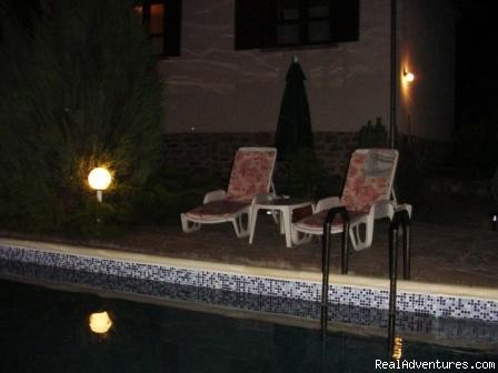 The Pool at night - Holiday in a Rural Bulgarian Setting