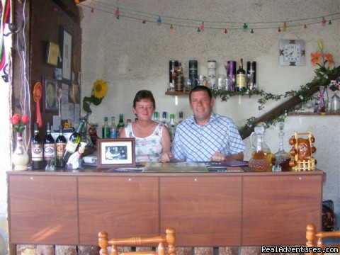 Pete & Jane at the Cocktail Bar - Holiday in a Rural Bulgarian Setting