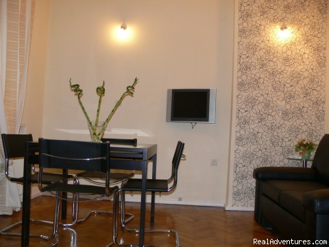 Living room. - Best selection of serviced apartments in Bulgaria