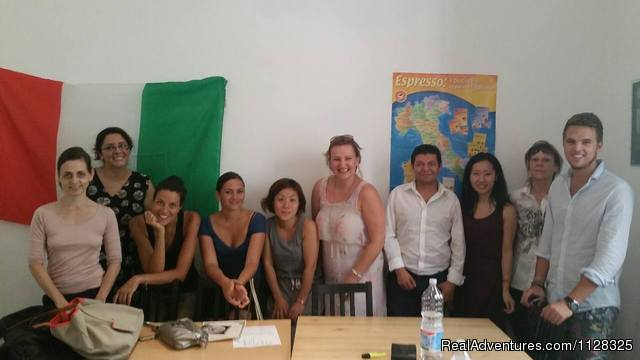 Italian language course in progress - Learn Italian in Genoa (Italy) by the sea