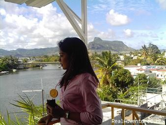 Terrace - Great stay Near the Airport in Mauritius