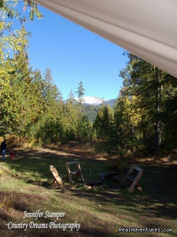 Luxury Tent Camping in North Idaho - Huckleberry Tent and Breakfast - Sandpoint Idaho