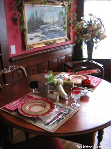 Breakfast in the Wellseley Room - Victorian B&B a short drive away.