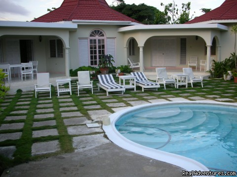 Pool Area (#6 of 21) - Affordable  Villa with pool -Runaway Bay Jamaica