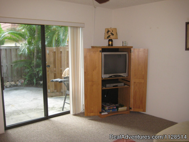 Living Room Entry To Courtyard - 3 bedroom Townhouse , private courtyard, pool