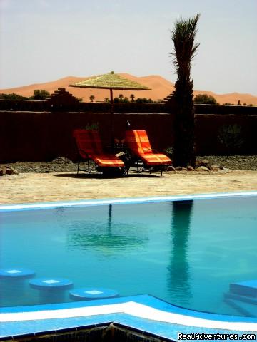 Hotel Merzouga Ksar Bicha Swimming pool - Ksar Bicha Merzouga Bivouacs