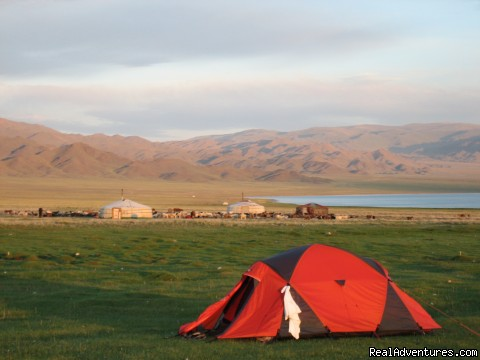 Camping beside Ureg Lake - Hiking and Trekking Holiday Vacations in Mongolia