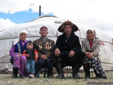 Kazakh family in Western Mongolia - Hiking and Trekking Holiday Vacations in Mongolia