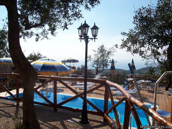 Residence Faito with a lovely swimming pool is built between olive groves, has a large garden and beautiful panoramic views.