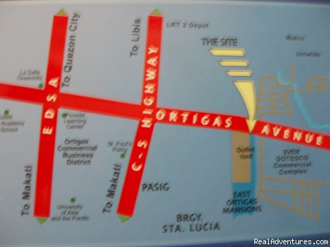 Location Map - City Resort Residence right in Ortigas