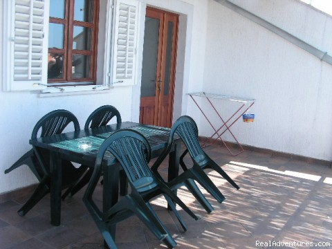 each apartment has own terrace - Cavtat apartments for rent FAMILLY