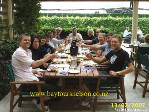 Superb Lunch Venues - Real Kiwi operators Wine - Golf and Scenic Tours