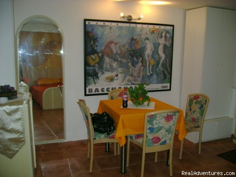 Studio accommodations Romantica's dining area - DUBROVNIK OLD TOWN Accomodations