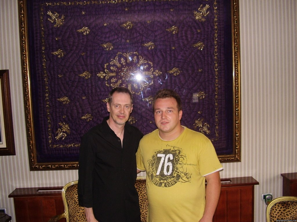 Steve Buscemi with Hotel manager | Image #12/16 | Luxury stay in Sarajevo