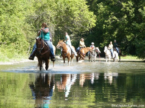 R & R Dude Ranch a year round Country Getaway Creek Riding